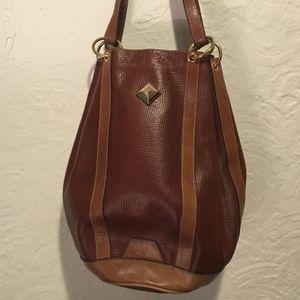 Vintage Brown Bucket Shoulder Bag